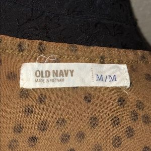 Old Navy Tops - Old Navy Brown & Black Spaghetti Strap Top